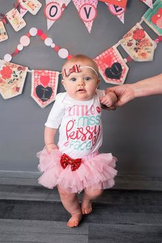 Little Miss Kissy Face Valentine Tutu by TheRosieMarketplace