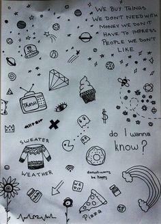 drawings doodle doodles drawing grunge tattoo easy simple notebook cool tattoos sharpie something sanatı heart pencil cizimler kawaii draw hand