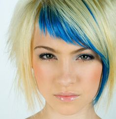 Neon Hair Colors | Like the idea of bright colored hair bangs.
