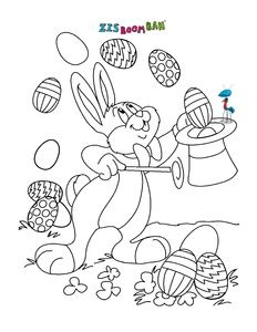 Easter coloring picture kleurplaten Pinterest Easter