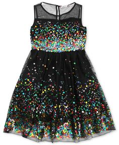 Speechless Girls Dress, Girls Sequin Illusion Dress - Kids Girls Dresses - Macy's