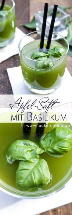 Apfel-Basilikum-Saft