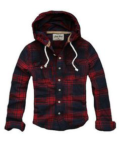 Mens Muscle Fit Hooded Checked Flannel Hoodie Shirt Red Navy XL (US Medium) - Mens Shirts Casual - Ideas of Mens Shirts Casual - Mens Clothing Shirts Casual Button-Down Shirts Mens Muscle Fit Hooded Checked Flannel Hoodie Shirt Red Navy XL (US Medium) Hoodie Sweatshirts, Hooded Flannel, Flannel Hoodie Mens, Flannel Shirts For Men, Womens Flannel, Mens Clothing Styles, Men's Clothing, Red Hoodie, Look Cool
