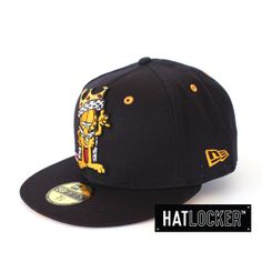 New Era Garfield King Navy & Gold 59Fifty Fitted | Find it at www.hatlocker.com | #newera #fitted #garfield