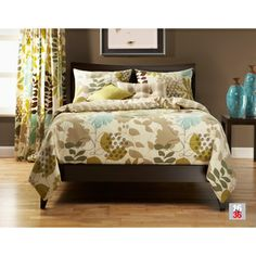 @Overstock.com - English Garden Reversable 4-piece Duvet Cover Set - Keep using your favorite comforter even if it doesn't look its best when you have this botanical duvet cover set. Leaves and fleur de lis patterns are combined for a modern yet classic look. The zipper closure keeps your blanket properly covered.  http://www.overstock.com/Bedding-Bath/English-Garden-Reversable-4-piece-Duvet-Cover-Set/7639192/product.html?CID=214117 $119.99