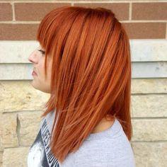 Dynamite copper orange-red Aveda hair color for fall by Aveda Artist Sarah Davis.