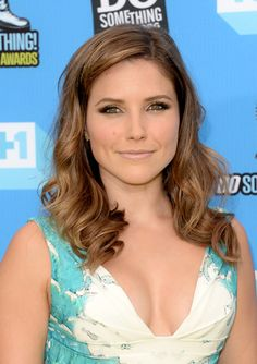 Eye makeup. Sophia Bush. Bright shadow dark liner