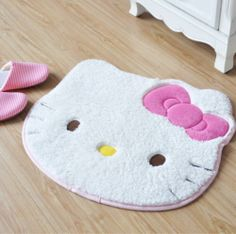 Kawaii~Pink Hello Kitty Carpet Rug