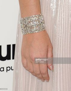 Lana Del Rey, jewelry detail, attends the 24th annual Elton John AIDS Foundation's Oscar viewing party on February 28, 2016 in West Hollywood, California.