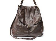 Ashley Watson Grebe Leather Bag-Brown