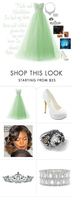 """""""Modern princess: Tiana"""" by rebecca41622 ❤ liked on Polyvore featuring Michael Antonio, Blue Nile, Kate Marie, Lane Bryant, David Webb and modern"""
