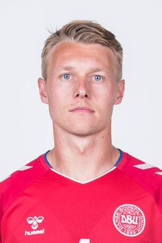 Simon Kjaer of Denmark poses during official FIFA World Cup 2018 portrait session on June 12 2018 in Anapa Russia Fifa World Cup 2018, Red Guy, International Football, National Football Teams, Garra, Rugby Players, Poses, Sweden, Guys