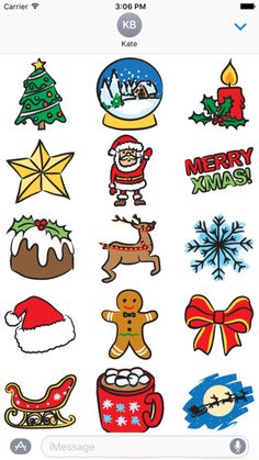 christmas stickers for iOS