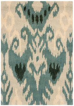 Uzbek Silk Ikat Matte Fabric Artificially Aged per Yard