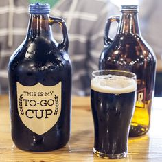 To Go Cup Growler. Great gift idea for a beer lover.