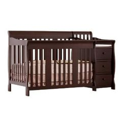 Stork Craft Portofino 4-in-1 Fixed Side Convertible Crib and Changer, Espresso --- http://bizz.mx/j44
