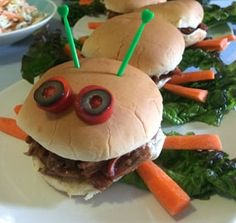 BBQ that tastes good AND looks cute? Sign us up! BBQ Caterpillar Sandwiches are fun for the whole family.
