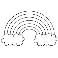 28+ Rainbow black and white coloring page info