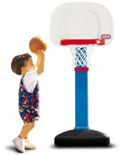 Little Tikes Toddlers Children Kids Height Adjustable Basketball Hoop Court Set