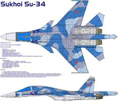 Flanker Fighter Bomber Aircraft, Russia The (also known as fighter bomber has been developed by the Sukhoi Design Bureau Joint Stock Company in Moscow and the Novosib. Military Weapons, Military Art, Military History, Air Fighter, Fighter Jets, Su 34 Fullback, Russian Military Aircraft, Sukhoi, Aircraft Design