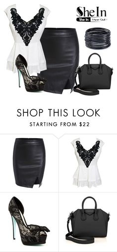 """""""Shein Contest"""" by amethyst-516 ❤ liked on Polyvore featuring Betsey Johnson, Givenchy and ABS by Allen Schwartz"""