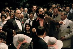 Francis Ford Coppola directing the wedding scene in The Godfather.