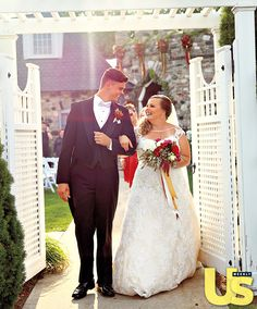 """Exclusive! Teen Mom OG's Catelynn Lowell and Tyler Baltierra said their """"I do's"""" in front of 154 guests on the beautiful grounds of a French Renaissance-style castle. Lowell wore a head-to-toe lace wedding gown with straps, and Baltierra was dressed in a classic tux. Get more details here!"""