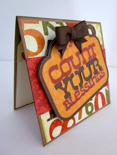 Cricut Autumn Celebrations Count Your Blessings Card