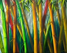 JUST BAMBOO   16 x 20    Oil Painting