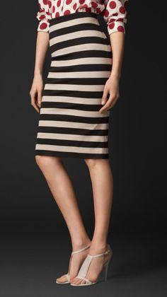 Striped Pencil Skirt - Lyst
