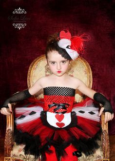 Queen of Hearts petti tutu dress or costume for Halloweeh parties or dress up. by hollie Wonderland Costumes, Alice In Wonderland Party, Boogie Wonderland, Halloween Party, Halloween Costumes, Halloween Ideas, Tulle Tutu, Character Costumes, Girls Boutique