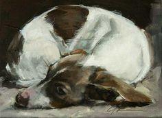 "Daily Paintworks - ""Almost Asleep"" - Original Fine Art for Sale - © Clair Hartmann"
