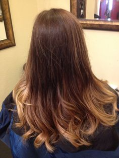 Ombré by Connie@Elite Salon of Weatherford. www.elitesalonofweatherford.com #ombre
