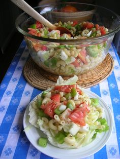 Garden Pasta Salad (Southern Lady Cooks) --- I remember my Momma making this for church picnics!