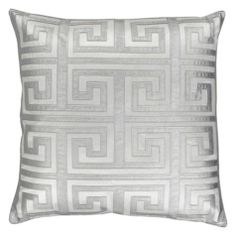 "Mykonos Pillow 24"" - Silver 
