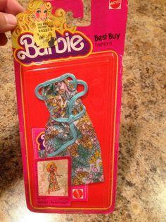 Mattel Vintage Barbie Doll Best Buy Fashions Floral Dress #1360 NRFB 1979