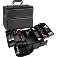 Professional Makeup Train Case W/ 3 Tier Dividing Tray
