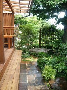 木洩れ日につつまれる庭 グランドカバーで手入れが楽になった庭 庭とエクステリアのデザインは群馬県高崎市のホスタガーデンズ