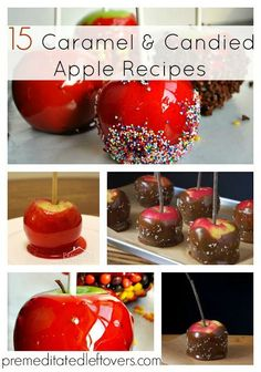 15 Caramel and Candied Apple Recipes - these candy apples are perfect for fall parties!