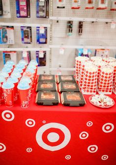 The Target craze is WILD – from kids to adults, and it's only continuing to grow in popularity, and this birthday party seriously takes the cake! If you're looking at ways to throw a Target party, this is for you! Starbucks Birthday Party, Birthday Party Snacks, 9th Birthday Parties, 11th Birthday, Birthday Party Decorations, Birthday Ideas, Birthday Surprise For Husband, Happy Birthday Sister, Happy Birthday Images