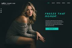 Photography Website | We Love Free PSD