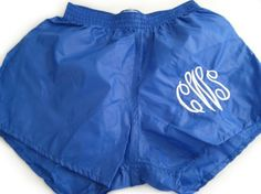 monogrammed wind shorts- so cute!
