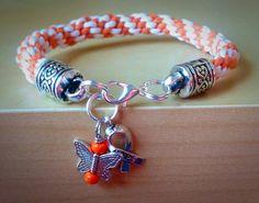 Orange & White Braided Awareness by Hopelisa on Etsy