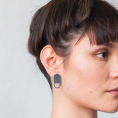 Peek-a-Boo Earrings - Alison Jackson Jewellery Boxes, Oxidized Sterling Silver, Peek A Boos, Jewelry Collection, Diamond Earrings, Jackson, Accessories, Spy, Designers