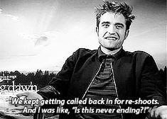 No one hates twilight more that Robert Pattinson.