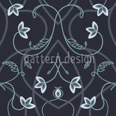 Gothic Flower Fantasy Black designed by Martina Stadler, vector download available on patterndesigns.com