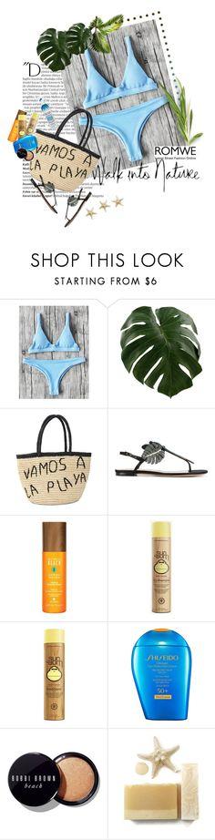 """Romwe bikini contest"" by sinsnottragedies ❤ liked on Polyvore featuring Balmain, Sensi Studio, Valentino, Alterna, Sun Bum, Shiseido, Bobbi Brown Cosmetics and Not Your Mother's"