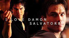 """#TVD The Vampire Diaries  Damon, yep..like most do.  """"I L O V E   D A M O N   S A L V A T O R E"""""""