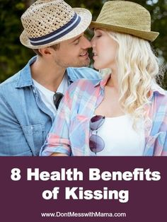 8 Health Benefits of Kissing #health - DontMesswithMama.com