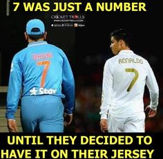 MS Dhoni & Cristiano Ronaldo have an attitude. Cr7 Wallpapers, Ms Dhoni Wallpapers, Cricket Wallpapers, India Cricket Team, Cricket Sport, Cricket News, History Of Cricket, Dhoni Quotes, Soccer Quotes